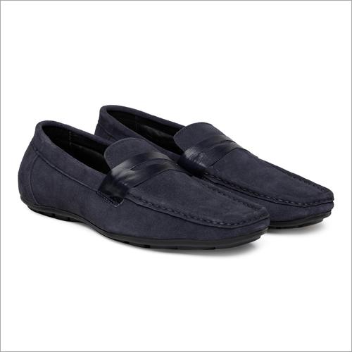 Mens Blue Penny Loafer Shoes