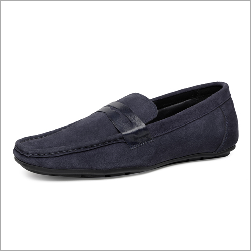 Mens Blue Penny Loafer Shoes