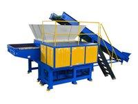 Garbage Shredder With Feed Conveyor