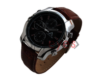 SPYEYES - Spy Wrist Watch Hidden Camera HD -Brown Stap