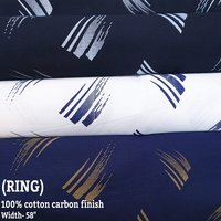Ring 100% cotton carbon finish leaf print