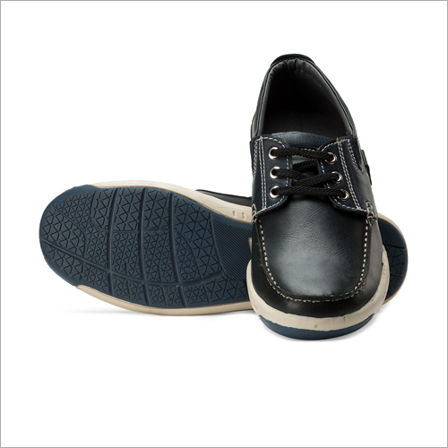 Mens Black And Blue Casual Shoes