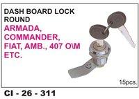Dash Board Lock Round Armada, Commander,Fiat, Amb, 407, O/M