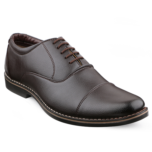 Mens Brown Formal Oxford Lace Up Dress Shoes