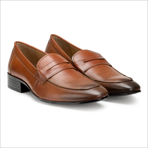 Office Tan Slip On Formal Shoes