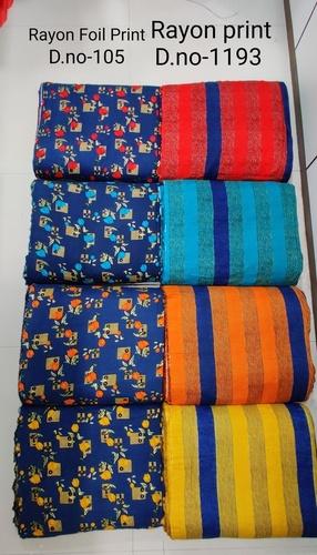 Rayon Foil Printed Fabric
