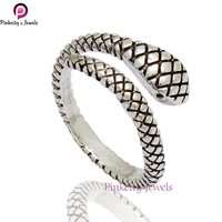 Silver Snake 925 Sterling Silver Ring Jewelry