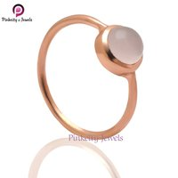 Pink Chalcedony 925 Silver Ring Jewelry