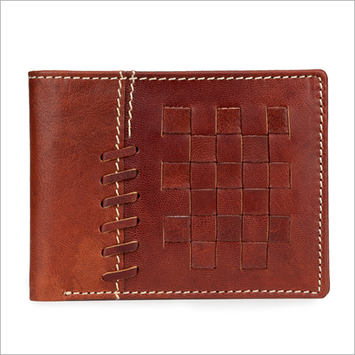 Mens Bifold Brown Leather Wallet