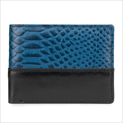 Mens Blue Biofold Wallet