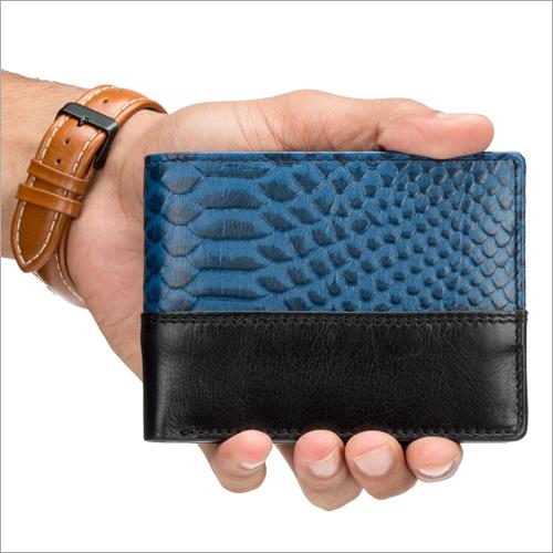 Mens Blue Biofold Wallet