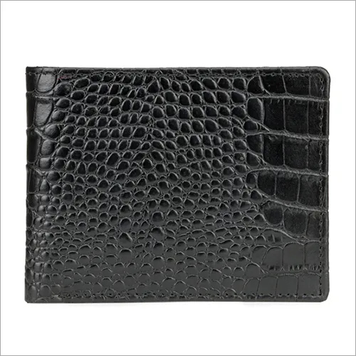 Mens Biofold Black Leather Wallet
