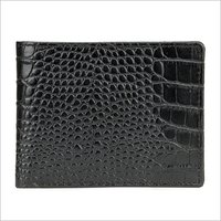 Mens Biofold Black Leather Wallet
