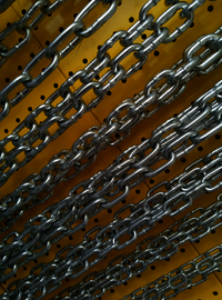 GUARDRAIL CHAIN FORGED LOOP CHAIN
