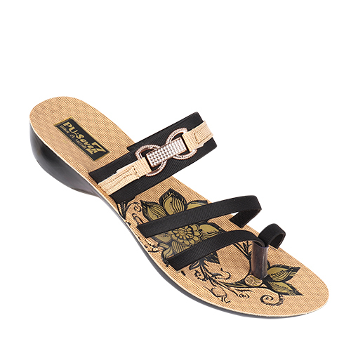 Ladies PU Fancy Slipper
