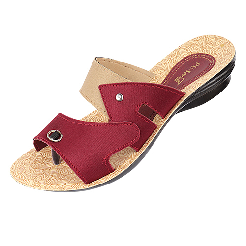 Ladies PU Casual Slipper