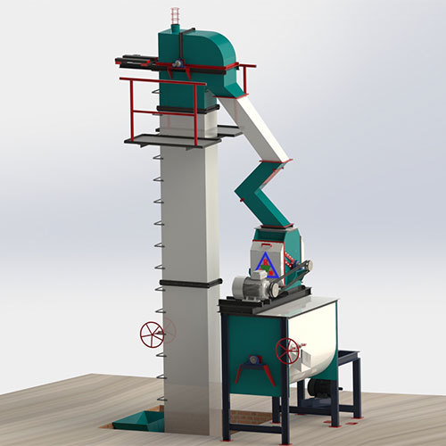 1 Tons-Hr to 3 Tons-Hr Feed Mill Plant