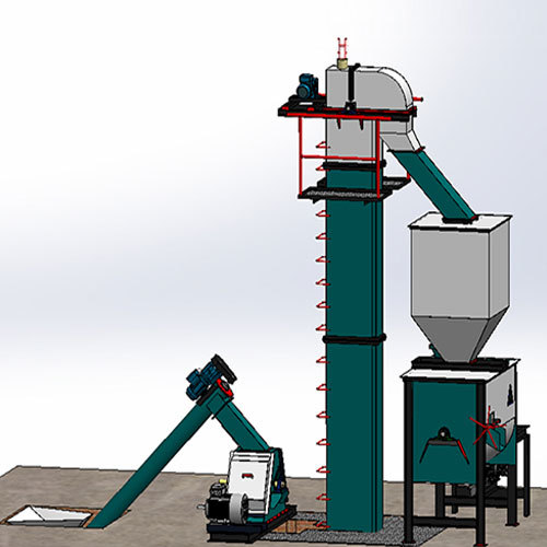 3 Tons-Hr to 5 Tons-Hr Feed Mill Plant
