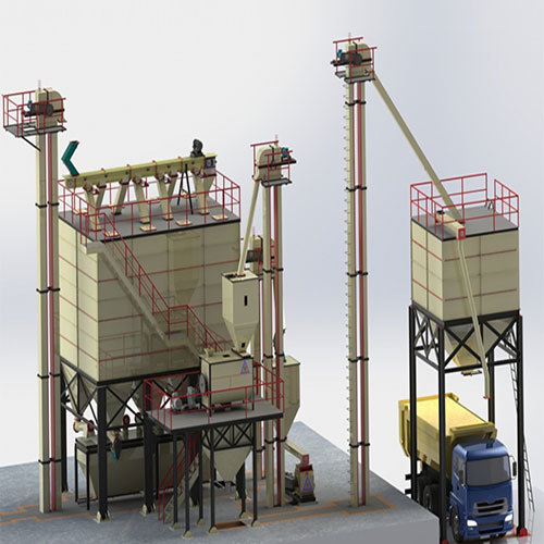 12 Tons-Hr to 15 Tons-Hr Feed Mill Plant with Auto Batching