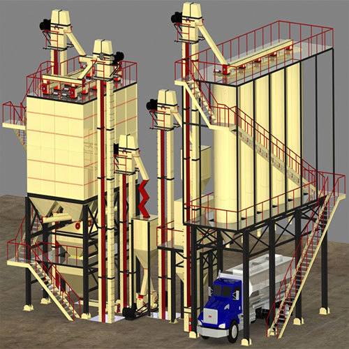 25 Tons-Hr to 30 Tons-Hr Fully Automated Feed Mill Plant