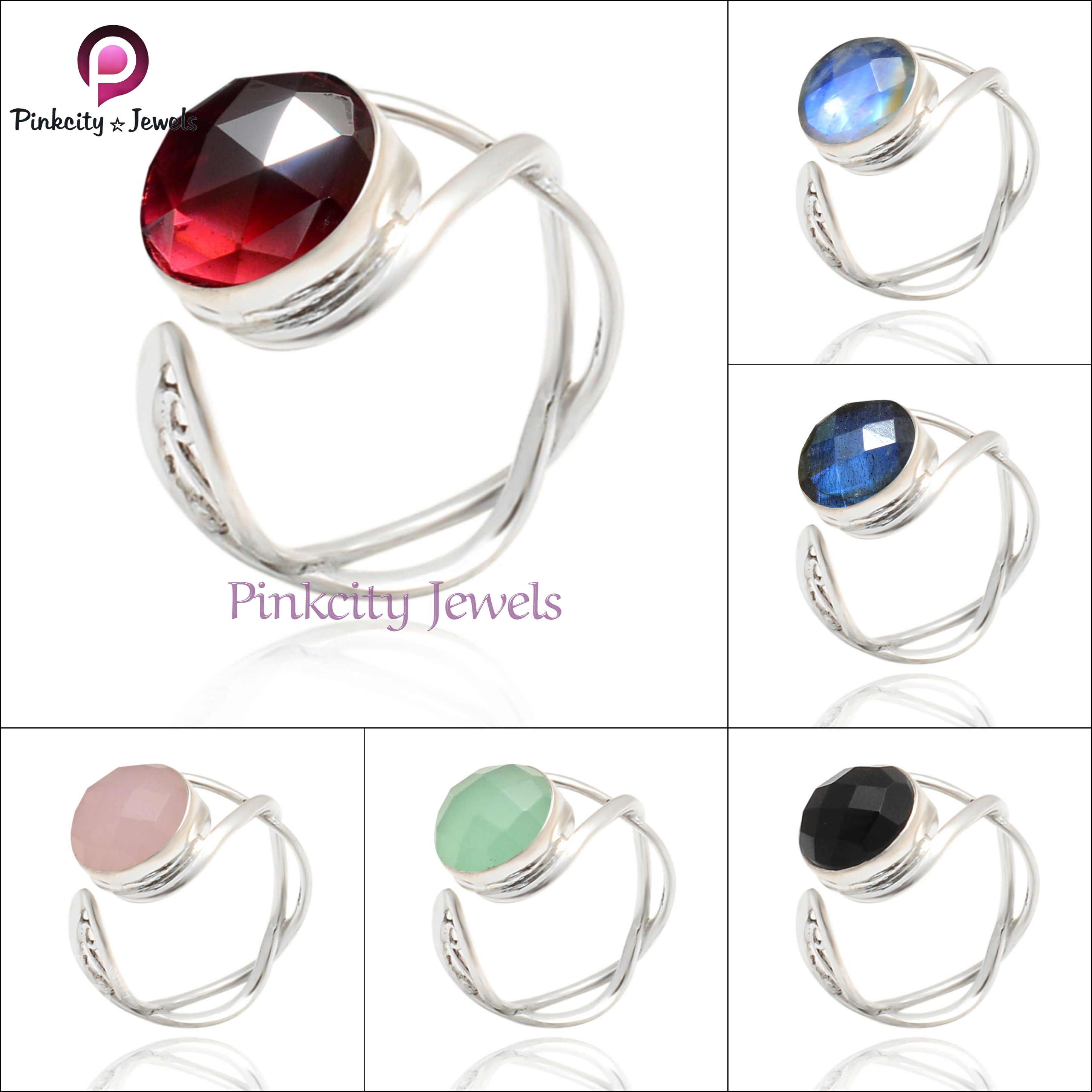 Pink Chalcedony 925 Silver Ring