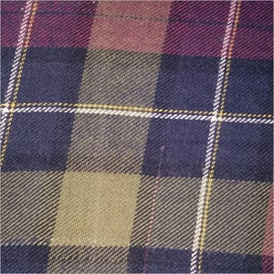 Cotton Dyed Twill Check Brushing Fabric