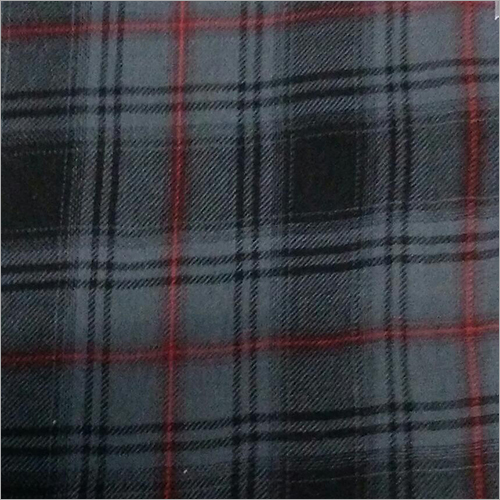 Cotton Twill Check Brushing Fabric