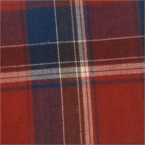 100 Percent Cotton Checked Fabric