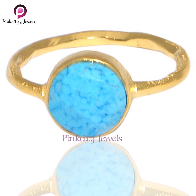Turquoise Gemstone 925 Silver Ring