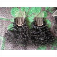 Natural Curly/Deep Wavy Indian Hair Closures