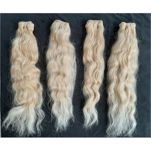 Wavy Blonde Indian Hair