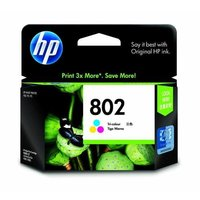 HP 802 Small Tri-Color Ink Cartridges-CH56zz
