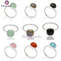 Natural Labradorite 925 Silver Ring