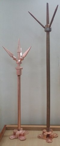 Copper Lightning Arrested Rod
