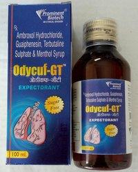 Ambroxol 15 Mg,Guaiphenesin 50 Mg,Terbutaline 1.25 Mg & Menthol 2.5 Mg Per 5 Ml