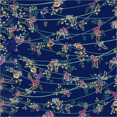 Polyester Crepe Flower Print Fabric