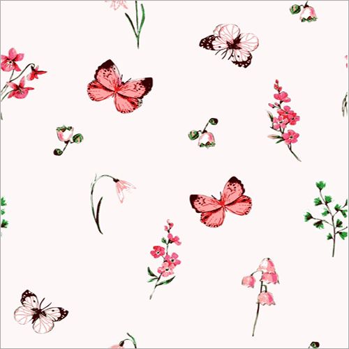 Butterfly Printed Polyester Fabric