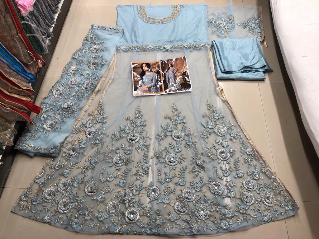 Embroidery Churidar Dress Materials
