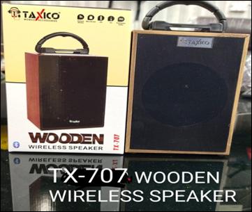 TX- 707  WOODEN WIRELESS SPEAKER