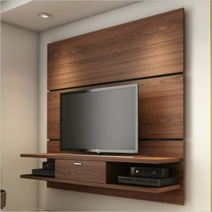 Wall Mounted Wooden TV Unit
