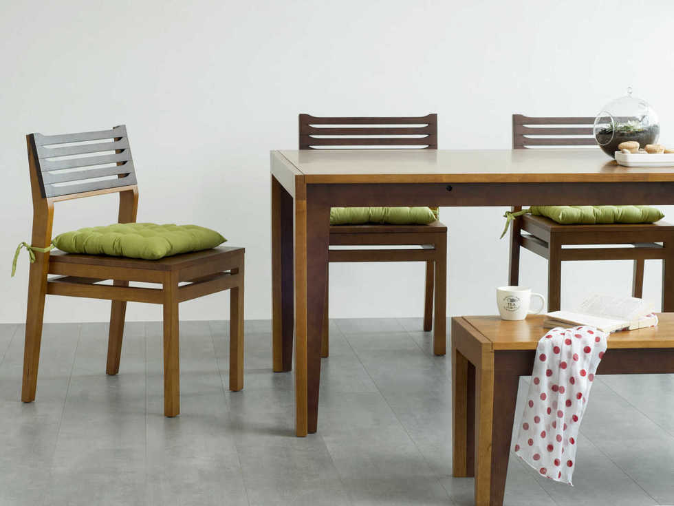 wooden Dining table set with bench Dual tone finish