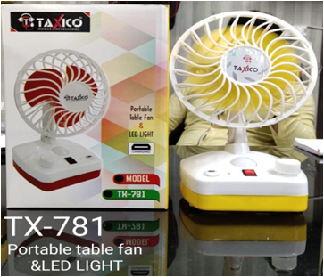 TX-781 PORTABLE FAN WITH LED LIGHT