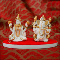 Decorative Resin Ganesha Laxmi Statue