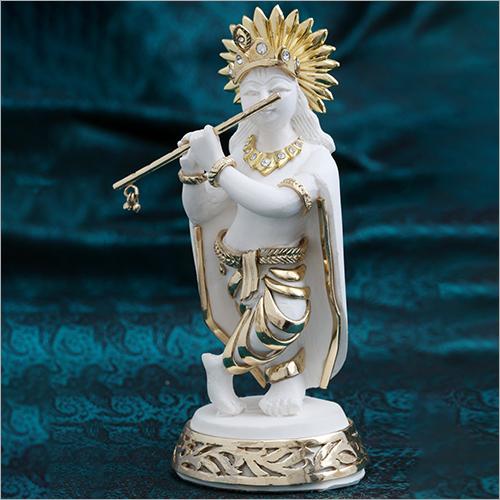 Gold Plated Resin Krishna Statue