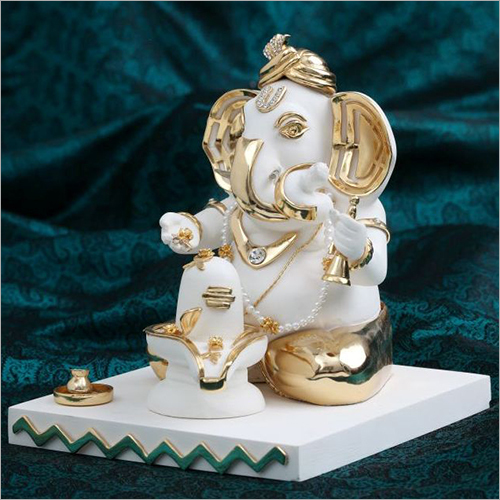 Marble Dust Resin Ganesh Statue