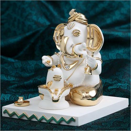 Marble Dust Resin Ganesh Statue