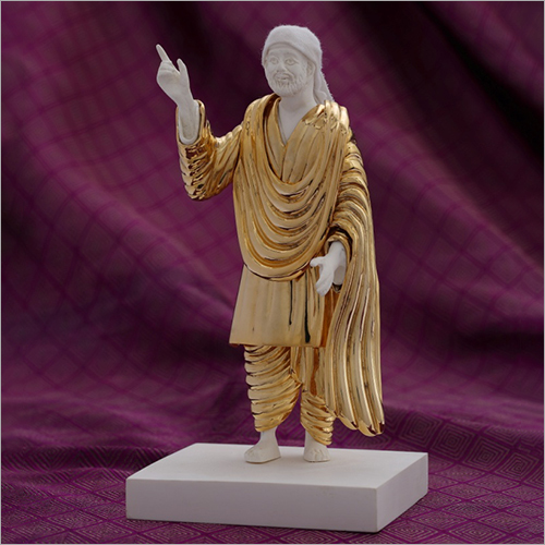 Gold Plated Resin Sai Baba Statue