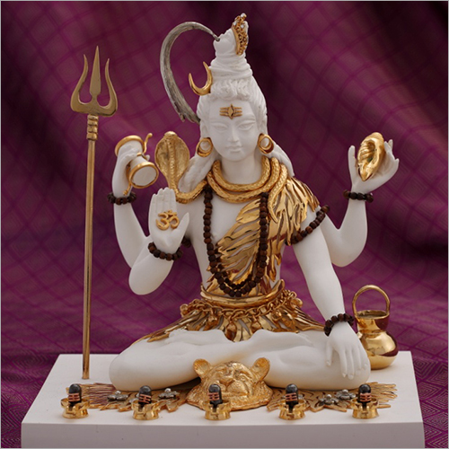 Gold Plated Resin Shiva Statue