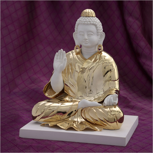 Gold Plated Resin Budha Statue