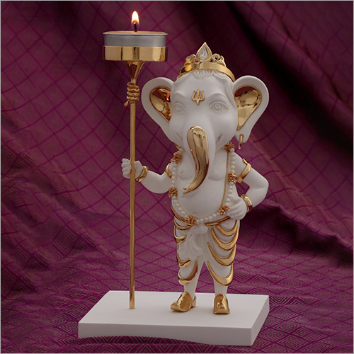 Pure Gold Plated Resin Ganesha Statue